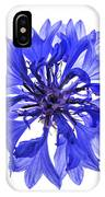 Blue Cornflower Flower IPhone Case