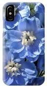 Blue Delphinium 9656 IPhone Case
