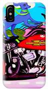 Blue Dogs On Motorcycles - Dawgs On Hawgs IPhone Case