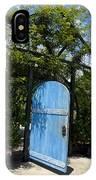 Blue Door To Childrens Garden Huntington Library IPhone Case