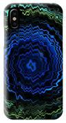Blue Electric Twirl 5 IPhone Case