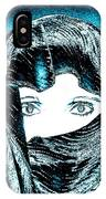 Blue Eye Lady IPhone Case