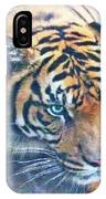 Blue Eyed Tiger IPhone Case