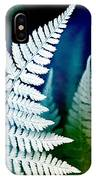 Blue Fern Leaf Art IPhone Case