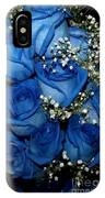 Blue Fire And Ice Roses IPhone Case