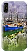 Blue Fishing Boat Hdr IPhone Case