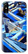 Blue Fishing Boats IPhone Case