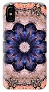 Blue Flora Mandala IPhone Case