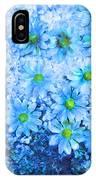 Blue Floral Fantasy IPhone Case