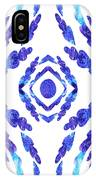 Blue Floral Pattern II IPhone Case
