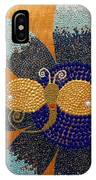 Blue Flower And Dragonfly IPhone Case