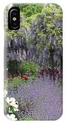 Blue Flowergarden With Wisteria IPhone Case