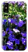 Blue Flowers On Sun IPhone Case