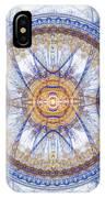 Blue Fractal Inception  IPhone Case