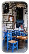 Blue Greek Taverna IPhone Case