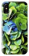 Blue Green Hydrangea IPhone Case