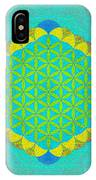 Blue Green Yellow Flower Of Life IPhone Case