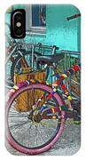 Blue Heaven Key West Bicycles IPhone Case