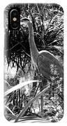 Blue Heron 7bw IPhone Case