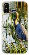 Blue Heron Backside IPhone Case