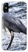 Blue Heron Fishing V3 IPhone Case