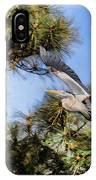 Blue Heron In The Trees Oil IPhone Case