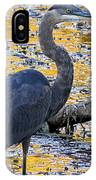 Blue Heron Naturally IPhone Case