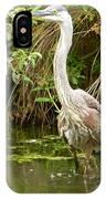Blue Heron Reflection IPhone Case