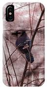 Blue Jay In The Willow IPhone Case