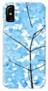 Blue Leaves Melody IPhone X Case