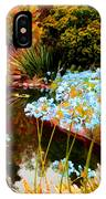 Blue Lily Water Garden IPhone Case