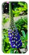 Blue Lupins IPhone Case