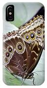Blue Morpho Butterfly Costa Rica IPhone Case