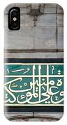 Blue Mosque Calligraphy IPhone Case