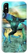 Blue Ocean Horses IPhone Case