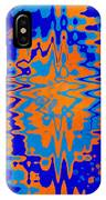 Blue Orange Abstract IPhone Case