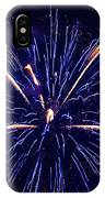 Blue Orange Fireworks Galveston IPhone X Case