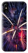 Blue Orange Red Fireworks Galveston IPhone X Case