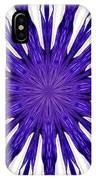 Blue Orchid Sunburst Kaleidoscope IPhone Case