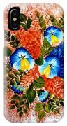 Blue Pansies Bouquet IPhone Case