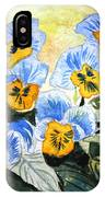 Blue Pansy IPhone Case