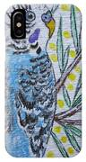 Blue Parakeet IPhone Case