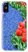 Blue Path Of Flowers IPhone Case
