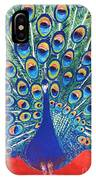 Blue Peacock IPhone Case