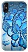 Blue Pine Cone 2 IPhone Case