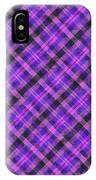 Blue Pink And Black Diagnal Plaid Cloth Background IPhone Case