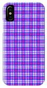 Blue Pink And White Plaid Cloth Background IPhone Case