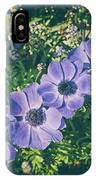 Blue Poppies Blooms IPhone Case
