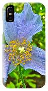 Blue Poppy In Les Jardins De Metis Or Reford Gardens Near Grand-metis-quebec IPhone Case