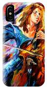 Blue Rhapsody - Palette Knife Oil Painting On Canvas By Leonid Afremov IPhone Case